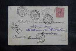 FRANCE - Affranchissement Semeuse De Bayonne Sur Carte Postale En 1904 Pour La Belgique - L 34702 - Marcophilie (Lettres)