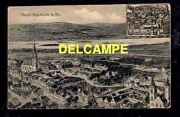 DD / ALLEMAGNE / RHÉNANIE-PALATINAT / NIEDER-INGELHEIM / VUE GENERALE D' APRES UNE ANCIENNE GRAVURE - Allemagne