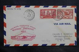 NOUVELLE CALÉDONIE - Enveloppe 1 Er Vol Nouvelle Calédonie / Fidji En 1947 - L 34706 - Cartas