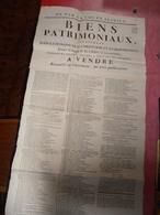 Document  Affiche :   Vente De  Biens Patrimoniaux Situés Dans Le Canton De LA CHATRE Et Ses Environs - 1780-1790- - Centre - Val De Loire