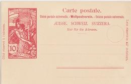 Entier Suisse Neuf Carte Postale 10c Rouge (jubilé De L'UPU), Carton Créme - Stamped Stationery
