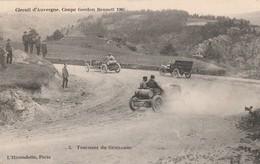Rare Cpa Circuit D'Auvergne Coupe Gordon Benett 1905 Tournant Du Gendarme - Motorsport