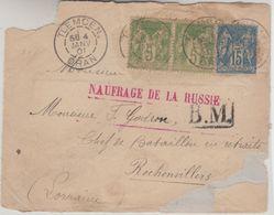 Frankreich - Naufrage De La Russie Roter L1 Brief Tlemcen Rochonvillers 4.1.1901 - Unclassified