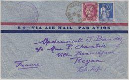 Frankreich - Kobe A Marseille No.5 1939 Schiffspostbrief V. Shanghai N. Royan - France