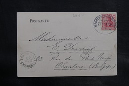 ALLEMAGNE - Oblitération Ambulant Sur Carte Postale De Magdeburg Pour La Belgique En 1904 - L 34715 - Covers & Documents