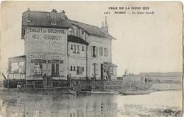 78 POISSY INONDATIONS 1910 CHALET BELLEVUE 1051 - Poissy