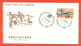 IPPICA - OLIMPIADI ROMA - PRATONI DEL VIVARO - 1960 - Ippica
