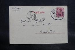 ALLEMAGNE - Oblitération Ambulant Sur Carte Postale De Konftanz Pour La Belgique En 1901 - L 34717 - Germany