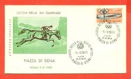 IPPICA - OLIMPIADI ROMA - PIAZZA DI SIENA - 1960 - Ippica