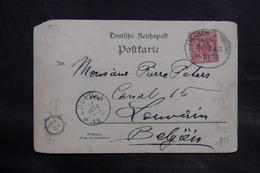 ALLEMAGNE - Oblitération Ambulant Sur Carte Postale De Alfernachr Pour La Belgique En 1893 - L 34718 - Germany