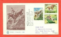 IPPICA - SAN MARINO - SERIE SPORT IPPICA -  1966 - FDC - 2 BUSTE - Ippica