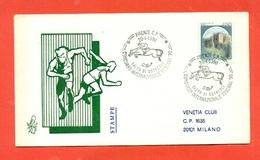 IPPICA -FIRENZE - CONCORSO IPPICO NAZIONALE - SALTO AD OSTACOLI -  MARCOFILIA -1990 - Ippica