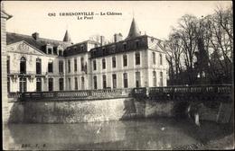 Cp Ermenonville Oise, Le Château, Le Pont, Brücke, Schloss - France