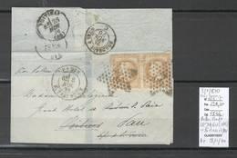 France  BALLON MONTE - 08/11/1870 - LE DAGUERRE Sans  Correspondance - Pour POITIERS ET PAU - 1870 Siege Of Paris