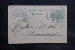 ALLEMAGNE - Oblitération Ambulant Sur Entier Postal Pour Oberneukirch En 1900 - L 34727 - Germany