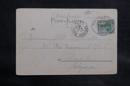 ALLEMAGNE - Oblitération Ambulant Sur Carte Postale Pour La Belgique En 1902 - L 34728 - Germany