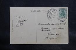 ALLEMAGNE - Oblitération Ambulant Sur Carte Postale Pour La Belgique En 1910 - L 34729 - Germany