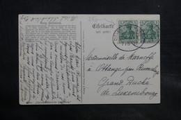 ALLEMAGNE - Oblitération Ambulant Sur Carte Postale Pour Le Luxembourg En 1909 - L 34732 - Germany