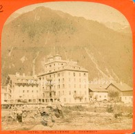 Chamonix Vers 1870 - Hôtel D'Angleterre - Photo Stéréoscopique Garcin - Voir Scans - Stereoscopic