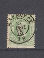 COB 30 Oblitération Centrale Double Cercle MAESEYCK Superbe - 1869-1883 Leopold II