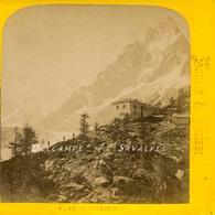 Chamonix Vers 1865 - Auberge Du Montenvers - Photo Stéréoscopique Tairraz - Voir Scans - Stereoscopic