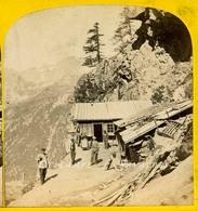 Chamonix Vers 1865 - Cabane Du Chapeau - Photo Stéréoscopique Braun - Voir Scans - Stereoscopic