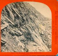 Chamonix 1868 - Le Mauvais Pas - Photo Stéréoscopique Lamy - Voir Scans - Stereoscopic