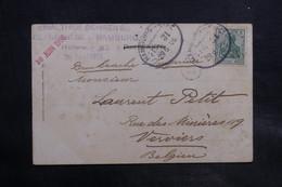 ALLEMAGNE - Oblitération Ambulant Sur Carte Postale De Hamburg Pour La Belgique En 1906 - L 34737 - Deutschland