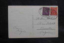 ALLEMAGNE - Oblitération Ambulant Sur Carte Postale De Idar Pour La Belgique En 1922 - L 34738 - Allemagne