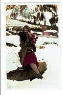 CPA - Carte Postale-Pays Bas- Gelukkig Nieuwjaar - Une Jeune Femme Dans Un Paysage Enneigé 1932-VM4592 - Nieuwjaar