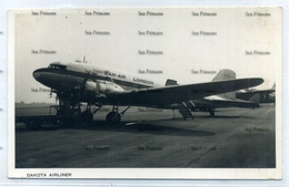 Dan Air London Airways Douglas C47 DC3 Dakota G-AMSS Airline Issue Postcard - 1946-....: Era Moderna