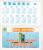 Romanian Small Calendar - 1999 National Lottery - Lottery Calendar - Calendarios