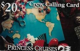 U.S.A.  PREPAID CARD-PRINCESS CRUISES-CREW CALLING CARD - Altri