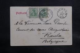 ALLEMAGNE - Oblitération Ambulant Sur Carte Postale De Mainz Pour La Belgique En 1904 - L 34748 - Covers & Documents