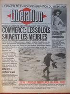 Journal Libération (9/10 Janv 1993) CCommerce Les Soldes - Les Shetland Face Marée Noire - Trou Sécu - Garigues Fontanès - Zeitungen