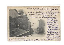 CPMJ1525 MONTBELIARD.- LA PORTE DU CHATEAU ET LA RUE DU CHATEAU - Montbéliard