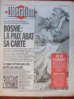 Journal Libération (4 Janv 1993) Bosnie - Où Va L'Europe - Sans-abri - Bastia - Zeitungen