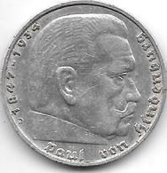 *germany  5 Mark 1936 D Km 86 Possion A    Vf+ - [ 4] 1933-1945 : Third Reich