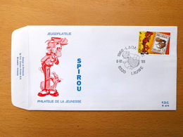 FDC Robbedoes (Spirou)  /Jeugdfilatelie 1988 - 1981-90