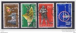 SVIZZERA:  1955  PROPAGANDA  -  S. CPL. 4  VAL. US. -  YV/TELL. 558/61 - Suisse