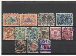CHINE / CHINA - 13 Timbres Obl (1909-21) OBLITERATION - China