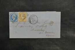 FRANCE - Lettre De Charleville Pour La Belgique En 1867 , Affranchissement Napoléons GC 898 - L 34759 - 1849-1876: Klassieke Periode