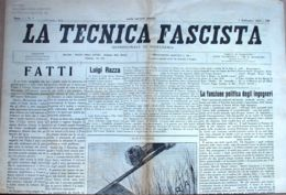 N° 87 - TECNICA FASCISTA - 15 SETTEMBRE 1935 - Zonder Classificatie