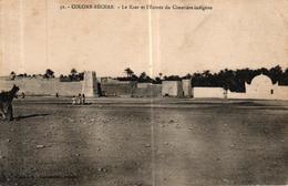 ALGERIE - COLOMB BECHAR LE KSAR ET L'ENTREE DU CIMETIERE INDIGENE - Bechar (Colomb Béchar)