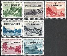 Liechtenstein 1947: DIENST+MARKE Zu 29-35 Mi Nr. 28-34 * Falzspur Charnière MLH (Zu CHF 50.00 - 50%) - Service