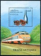 Laos 1997  BF 136 ; Block 159 **  MNH  Trains - Laos
