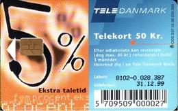 ! Telefonkarte, Telekort, Phonecard, 1999 Dänemark, Danmark, Denmark - Danemark