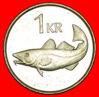 + GREAT BRITAIN FISH (1989-2011): ICELAND ★ 1 KRONE 1991 MINT LUSTER! LOW START ★ NO RESERVE! - Islandia