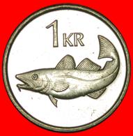+ GREAT BRITAIN FISH (1989-2011): ICELAND ★ 1 KRONE 1992 MINT LUSTER! LOW START ★ NO RESERVE! - Islandia