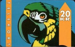 ! Telefonkarte, Telekort, Phonecard, 1994 Dänemark, Danmark, Denmark, Papagei, Parrot - Danemark